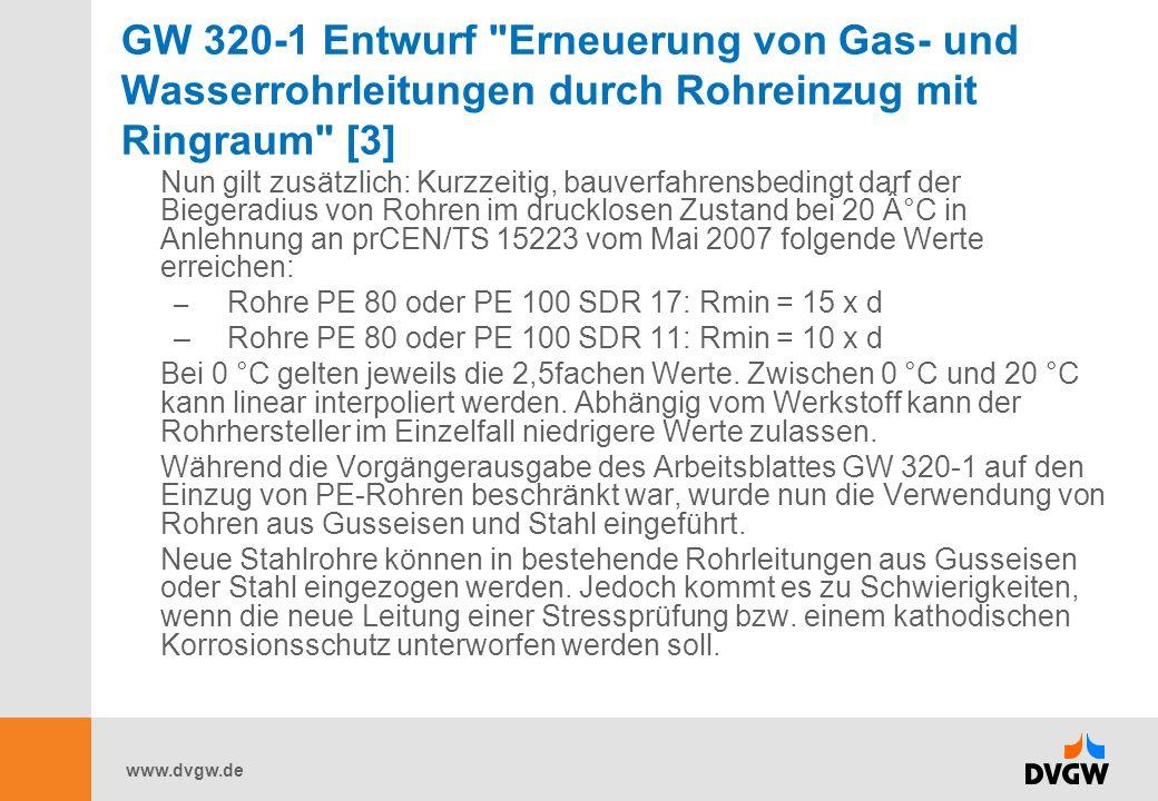 GW 320-1 Entwurf Erneuerung von Gas- und Wasserrohrleitungen durch Rohreinzug mit Ringraum [3]